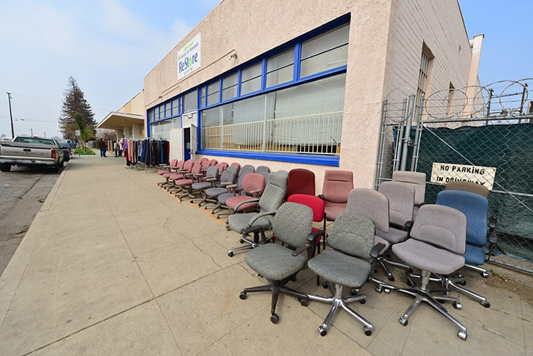 thrift store selling chairs
